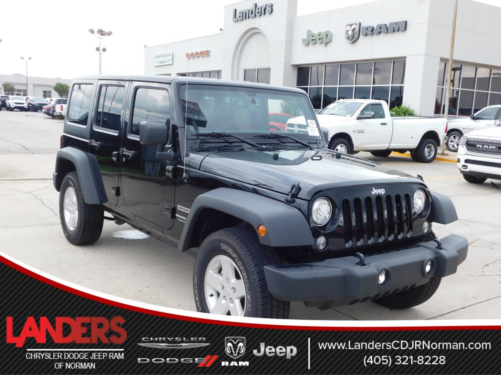 New 2018 Jeep Wrangler Unlimited Sport S Utility In Norman Jk Under Seat Storage
