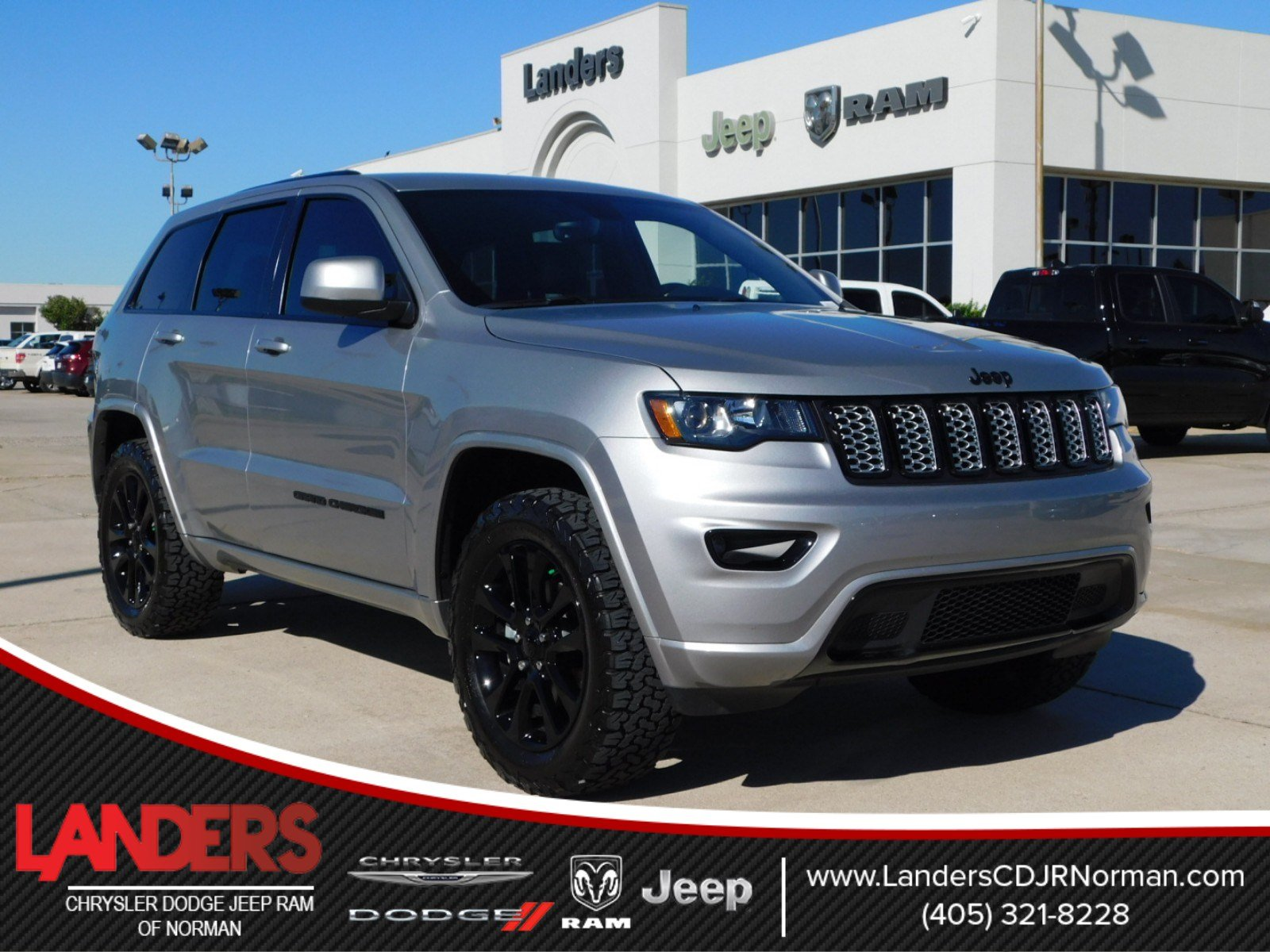 pre owned 2018 jeep grand cherokee altitude sport utility in norman c295192 landers chrysler. Black Bedroom Furniture Sets. Home Design Ideas