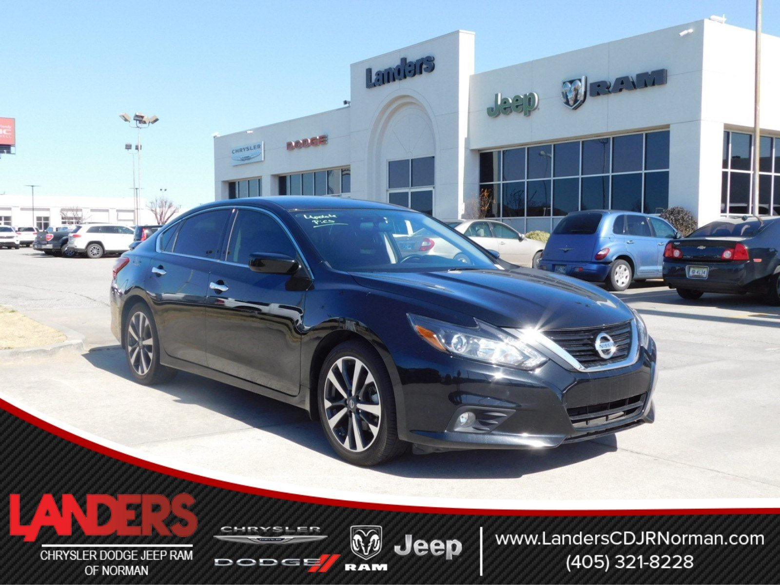 pre-owned 2017 nissan altima 2.5 sr 4dr car in norman #hc223810
