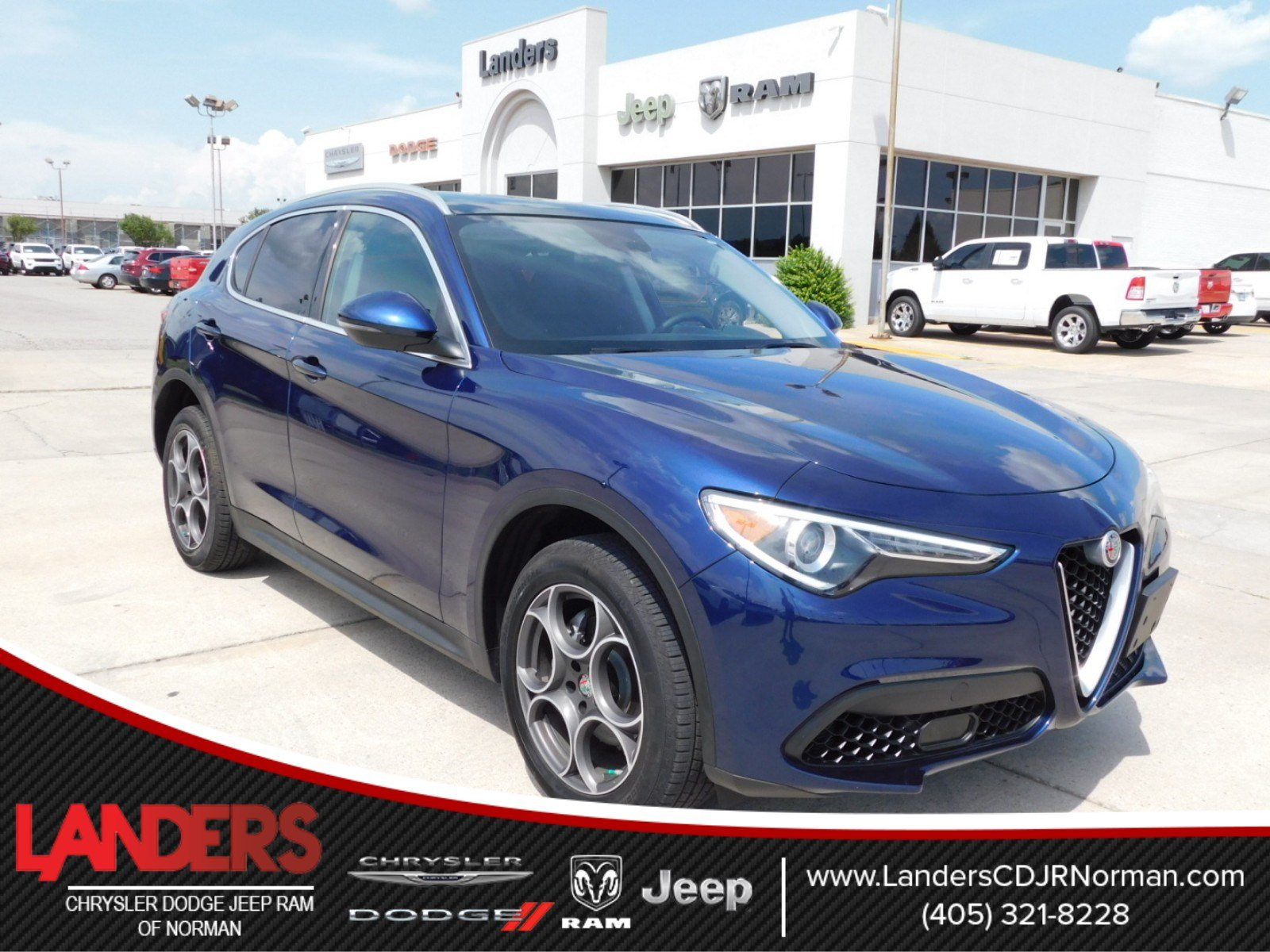 Pre Owned 2018 Alfa Romeo Stelvio Base Sport Utility in Norman